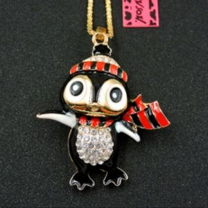 NEW BETSEY JOHNSON PENGUIN NECKLACE